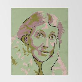 Virginia Woolf Throw Blanket