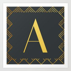 Art Deco Monogram - A Art Print