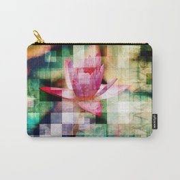 Abstract Flowers And Glass Mosaic Carry-All Pouch
