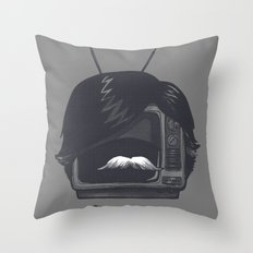 The Classiest TV Set Throw Pillow
