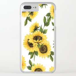 Lovely Sunflower Clear iPhone Case