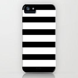 Black and White Horizontal Stripes iPhone Case