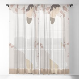 Soft Summer Breeze II Sheer Curtain