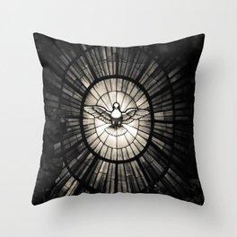 The Holy Spirit as a dove Throw Pillow
