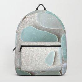 Sea Foam Sea Glass Christmas Tree #Christmas #seaglass Backpack