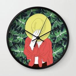 Floral Secret Piece Wall Clock