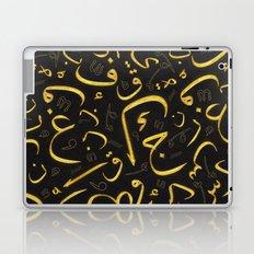 Golden Letters Laptop & iPad Skin