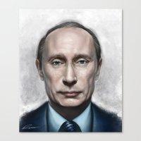 putin Canvas Prints featuring Vladimir Putin by Pavel Sokov