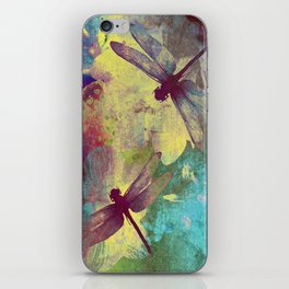 Painting Orchids and Dragonflies iPhone Skin