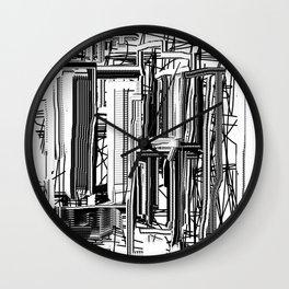 Abstract City #2 Wall Clock