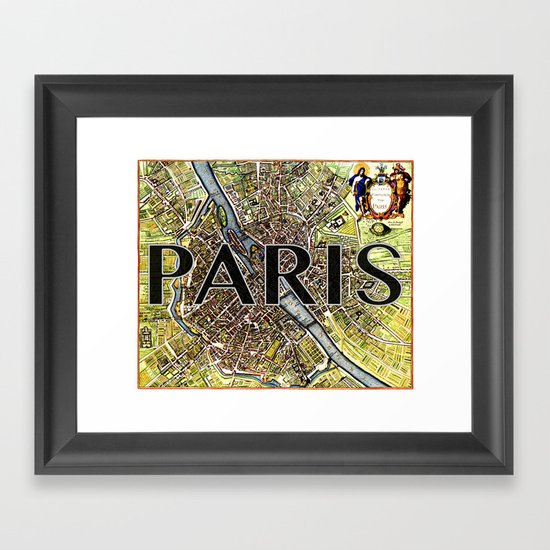 City of Paris Circa 1650 Framed Art Print