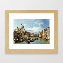 Canaletto Bernardo Bellotto  -  The Entrance To The Grand Canal  Venice Framed Art Print