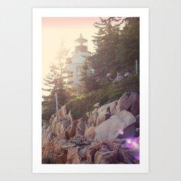 Sunset Lighthouse Art Print