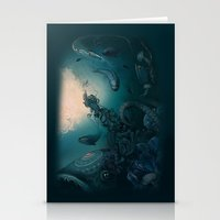 underwater Stationery Cards featuring Underwater by Tanya_tk