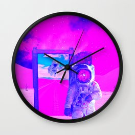 Pink World by GEN Z Wall Clock