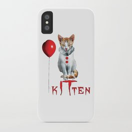 Kitten Clown Scary Fun Spooky Halloween iPhone Case