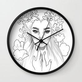 Lupine Love (black&white) Wall Clock