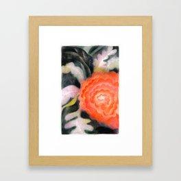 Fleur Rouge Framed Art Print