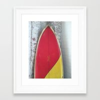 surfboard Framed Art Prints featuring surfboard by Steve Coleman Photo