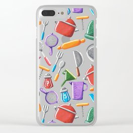Cooking Pattern Clear iPhone Case