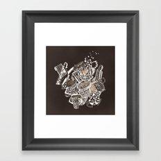 Teacup extravaganzza. Illustration wall art Framed Art Print