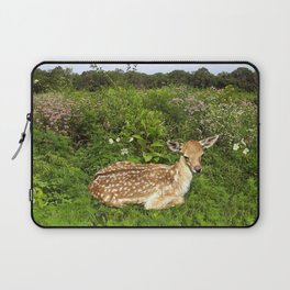 Fawn and Wildflowers Laptop Sleeve