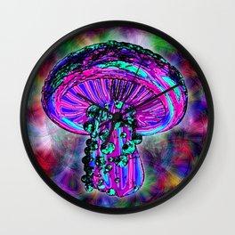 Trippy Shroom Wall Clock