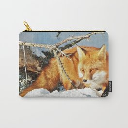 Algonquin Red Fox in the Snow Carry-All Pouch