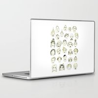 faces Laptop & iPad Skins featuring Faces by Wood + Ink
