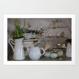 Shabby Charme Happy Easter Art Print