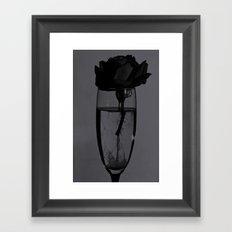 Liquid rose Framed Art Print