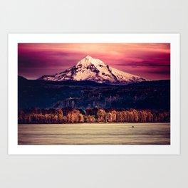 Mt Hood on Columbia River Art Print