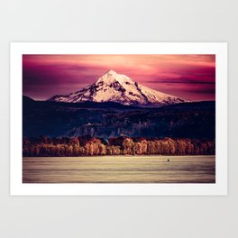 Mt Hood on Columbia River Art Print