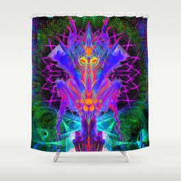 Lord Rokklu From Orion (Vallios Visual Kung Fu Collab) Shower Curtain
