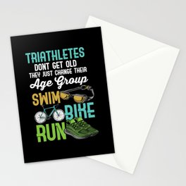 Triathlon - Triathletes Sport Motif Stationery Cards