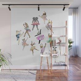 Animal Ballerinas Wall Mural