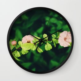 In the summer, we bloom Wall Clock