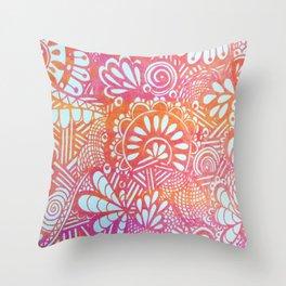 harvest print Throw Pillow