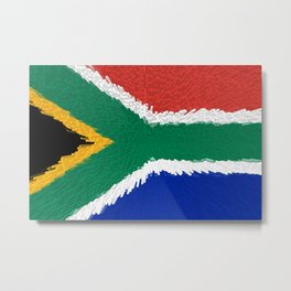 Extruded flag of South Africa Metal Print
