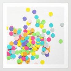 Confetti on White Art Print
