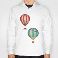 hot air balloon Hoodies featuring Hot Air Balloon by Zen and Chic