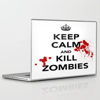 zombies Laptop & iPad Skins featuring ZOMBIES by Tania Joy