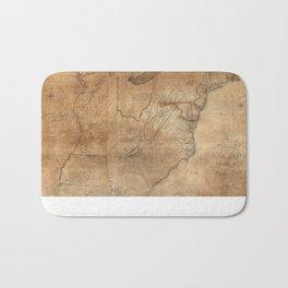Vintage United States Map (1806) Bath Mat