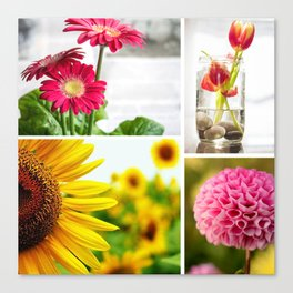 Colorful Flower Collage Canvas Print