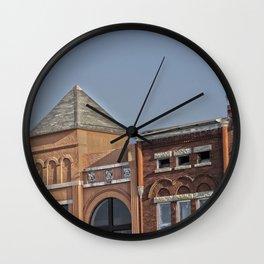 Pyramid Roof Wall Clock