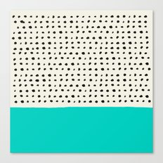 Aqua x Dots Canvas Print