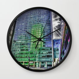 London Photography Canary Wharf Recollection Pop ART Wall Clock