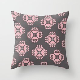 patterns pink Throw Pillow
