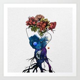 Roots of love. Art Print