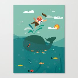 Whales and Pirates Canvas Print
